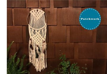 Patchwork Presents Boho Macrame Dream Catcher