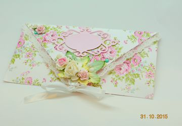 An envelop for a gift certificate