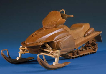 Wooden snowmobile