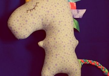 A handmade unicorn