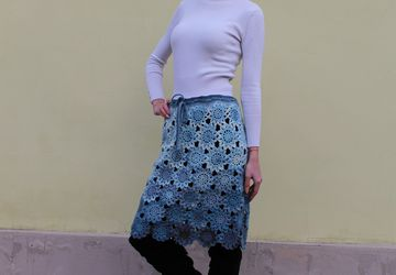 An openwork mohair skirt