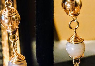 Dangle light catcher earrings