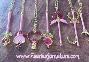 Sailor Moon Senshi Charm Magical Girl Necklaces