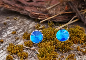 Blue like sky resin earrings