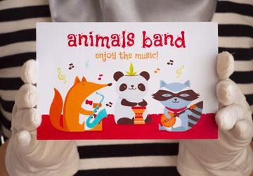 "Postcard ""Animals band"""
