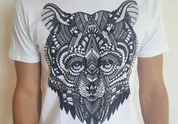 Bear T-Shirt, Wild Bear T-Shirt, Bandanna Bear T-Shirt, Funny Bear Tee, Angry Bear T-Shirt, Balazs Solti T-Shirt