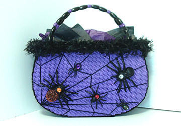 Purple and Black Halloween tote bag