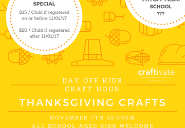 Day Off Kids Thanksgiving Craft Hour
