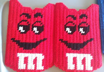 Handmade M&M Scissor Case Cover