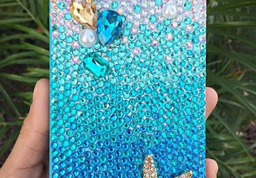 Ombre Aqua Bling Starfish case