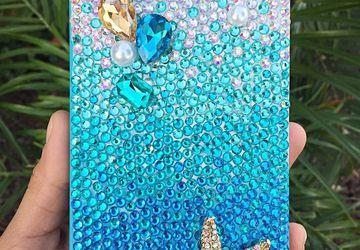Ombre Aqua Bling Starfish case