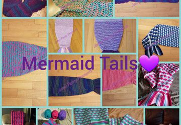 Mermaid Tail Blankets CROCHET