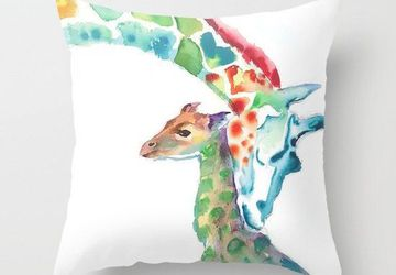 Giraffe Mommy and Baby pillow