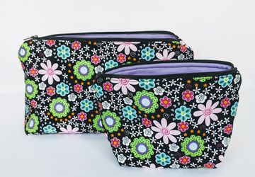 Matching Travel Cases, Makeup Bag, Women's Travel Bag, Zipper Bag, Gift under 20