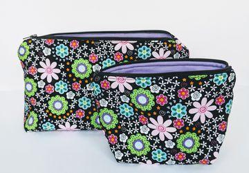 Matching Travel Cases, Makeup Bag, Women's Travel Bag, Zipper Bag, Gift under 20