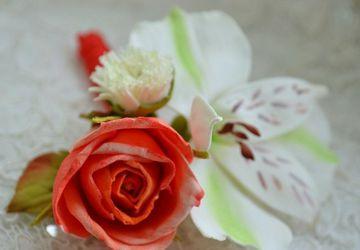 A floral boutonniere