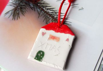 XMAS Christmas tree decoration, Ornament Ceramic houses, Gift tag, Christmas tree decor, Decoration, Home decor, Glazed Ceramics ornament