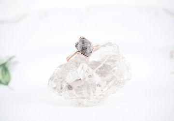 Herkimer Diamond Ring in Copper Size 7
