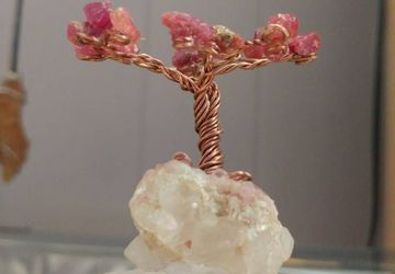 Ruby Tree-Of-Life Sculpture