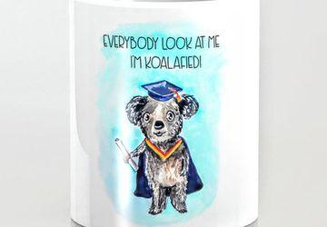 Koala graduation mug