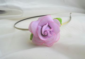 Headband with rose (cold porcelain)