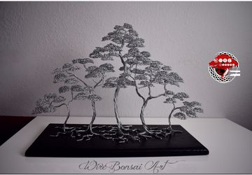 Wire bonsai tree forest, Wire bonsai tree , Home decor, gift , deco, dekoration, Japanese art, japanese decor, Japanese tree