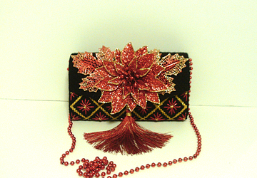 Red,Black and Gold Christmas Clutch