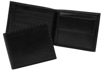 Leather wallet  Cangurione 1214-001 V Black