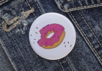 Doughnut Pin Badge