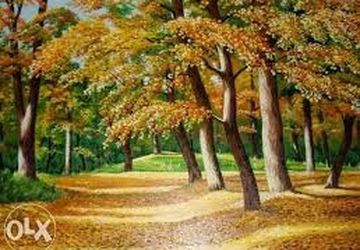 "A painting ""Woods in autumn"""