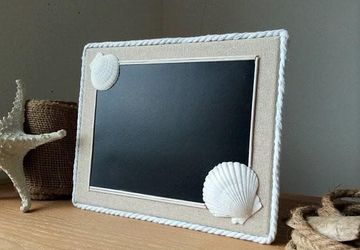 Chalkboard Seashell Decor
