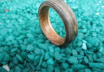 Engagement ring , promice ring , Green ring , Olive wood ring , for Susanne ring , Makassar wood -Free shipping-