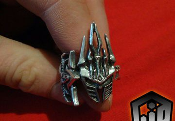 Frostmourne Sword - Frostmourne Sword Ring - Leech King Ring - Leech King - WOW - Warcraft Jewelry - World of Warcraft - Silver Fantasy Ring