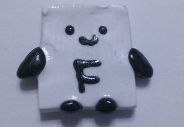 Black friday creature polymer clay magnet
