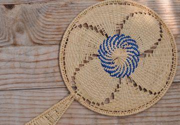Rafia handmade fan