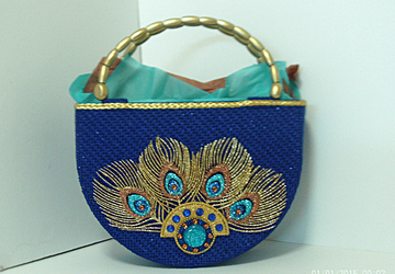 Exotic Royal Blue and Gold Tote bag
