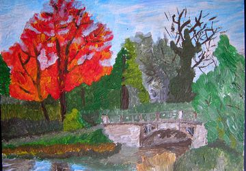 "Painting ""The bridge in Alexander Park"""