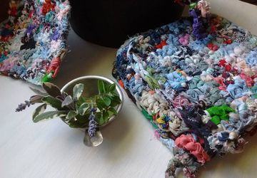 Crocheted Multicolored Potholders