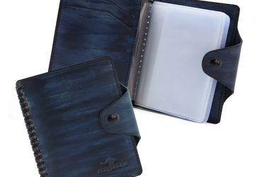 Cardholder CANGURIONE 3309-020 Dark-Blue Hand Made