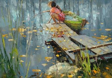 "A painting ""A fishing"""