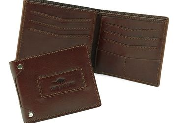 Leather wallet Cangurione 1180-004 V Tan