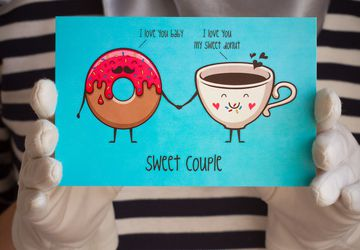 "Postcard ""Sweet Couple"""