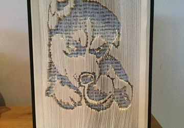 Akita Puppy Bookfolding Pattern | Animal lovers gift, birthday, Christmas etc | Commercial Use | FREE tutorial