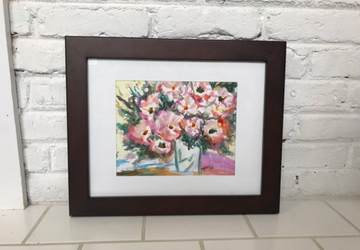 Original Watercolor Painting- Flower Vase