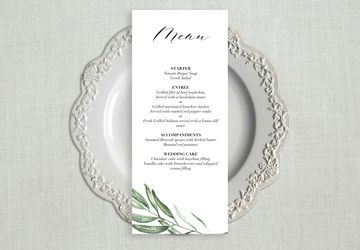Greenery Wedding Menu Template, Wedding Menu Cards, Wedding Menu Sign, Wedding Menu Printable