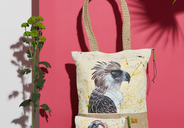 Philippine Eagle Agila Hand Painted Tote Bag and Pouch