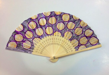 Lynn Hand fan, hand painted hand fans, outdoor wedding, beach wedding, spanish hand fan, free shipping, beach and travel accessory