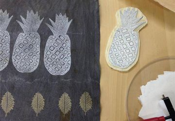 Father's Day Block Printing on Textiles
