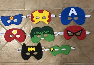 Felt Superhero Themed Masks