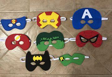 Felt Superhero Themed Masks